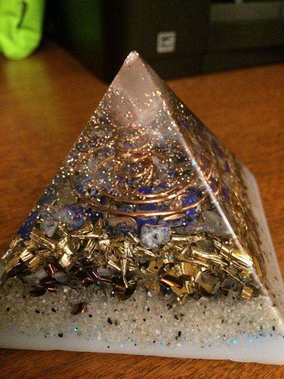 Orgone Energy Pyramid With Lapis Lazuli Energy Pyramid Orgone Energy Orgonite Pyramids
