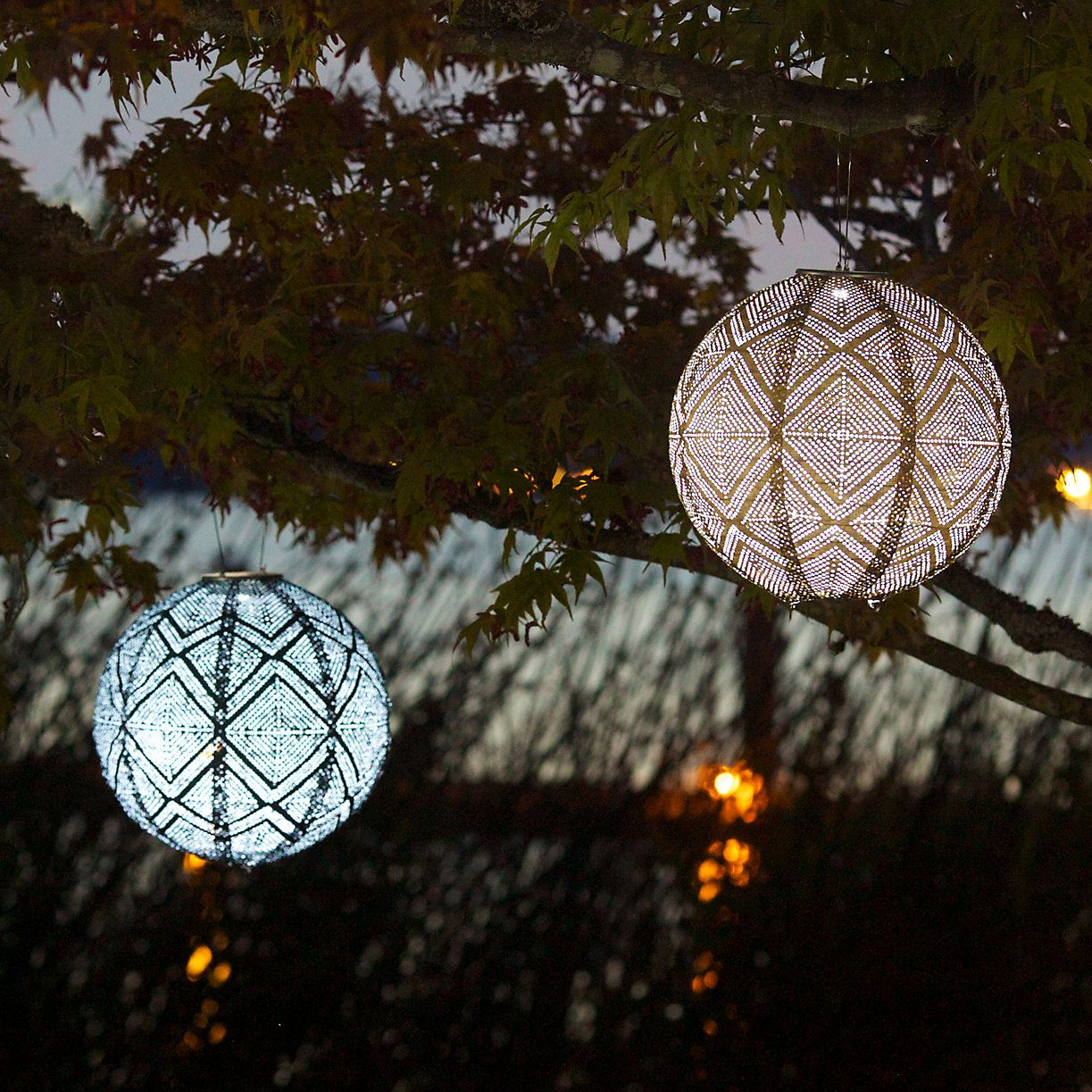 Add a soft glow to outdoor evenings with this solar