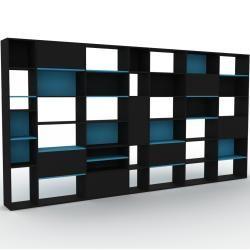 Photo of Schwarzes Regalsystem – Flexibles Regalsystem: Schwarze Türen – Hochwertige Materialien – 452 x 233