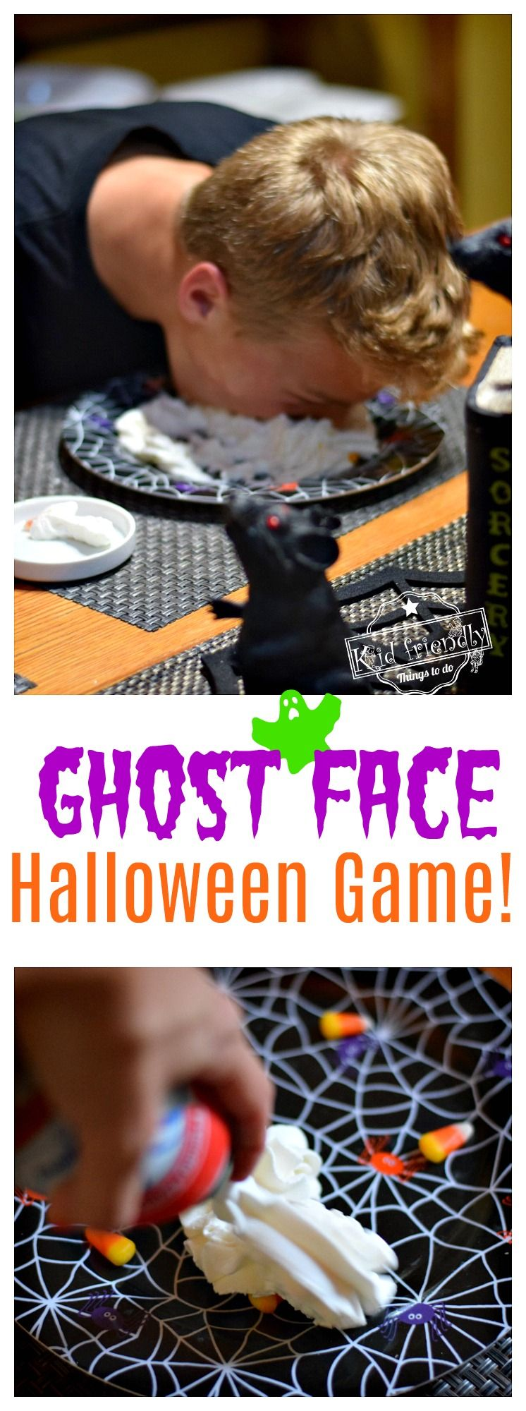 Ghost Face a Fun Halloween Game for all Ages | Kid Friendly Things To Do #halloweenpartygamesforkids