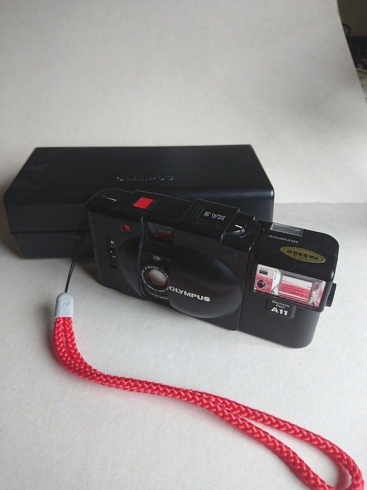 OLYMPUS XA2 CAMERA 35mm Film 1:3,5 f=35mm lens A11 flash