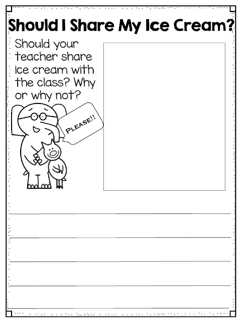 Math with Mo Willems Book Characters and a Writing Freebie | Daycare ...