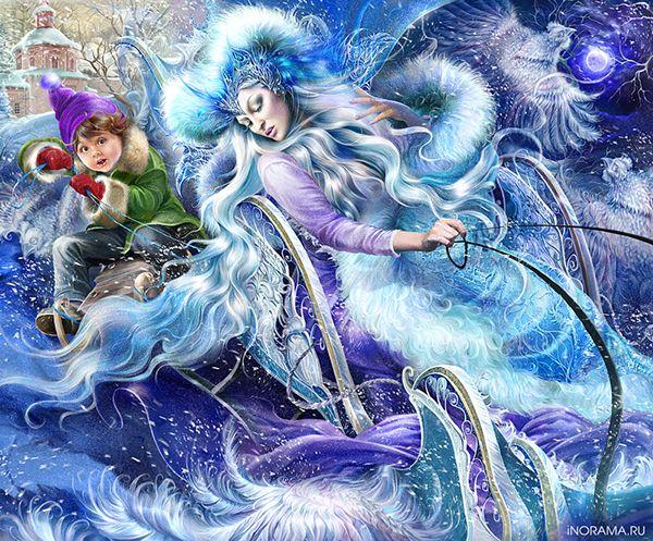 """Давно нарисованные иллюстрации к сказке Андерсена """"Снежная королева"""" наконец напечатались в книгу издательством Роосса."""