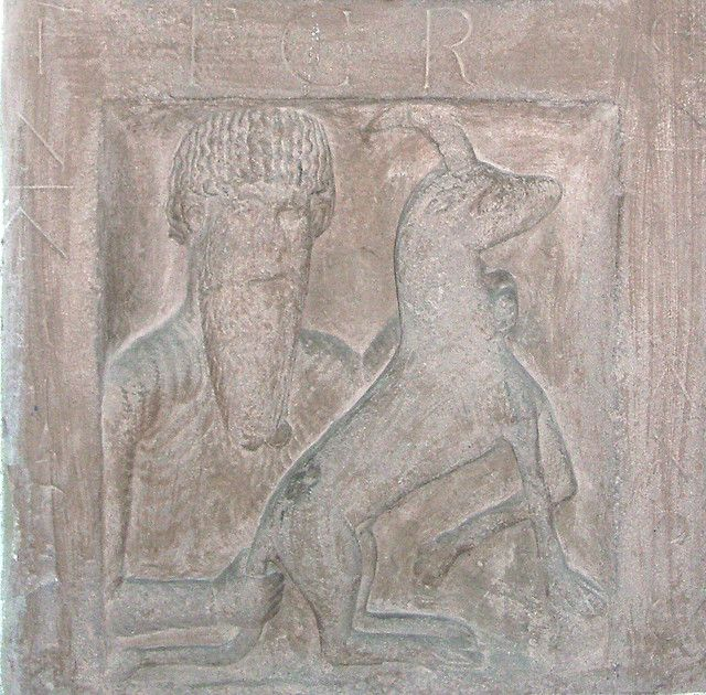 Stone relief, Holzkirchen priory, Spessart, Germany Possibly 11th - holzkchen