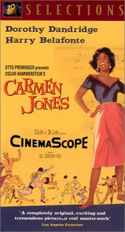 "Carmen Jones ~ ""Carmen Jones ~ ""Contemporary version of the Bizet opera, with new lyrics and an African-American cast."""