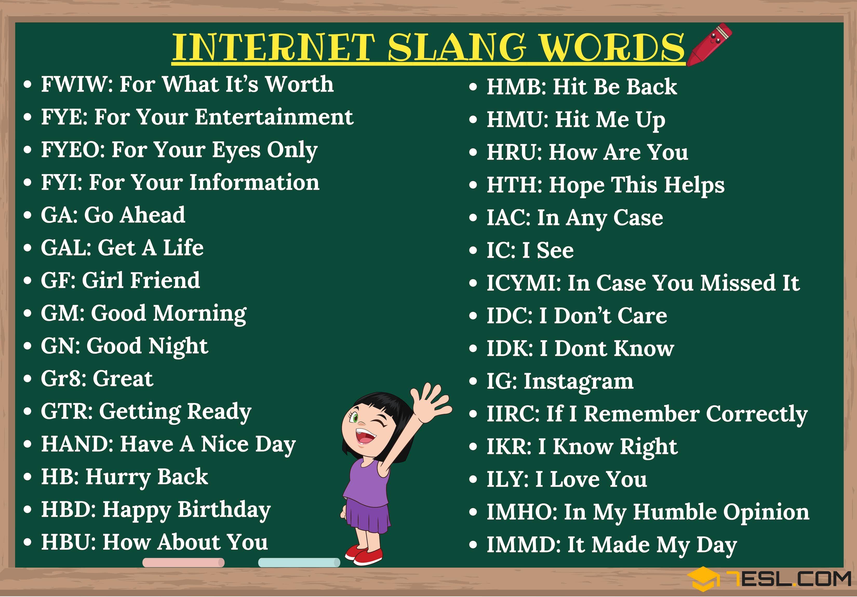 Internet Slang Thousands Of Trendy Internet Slang Words
