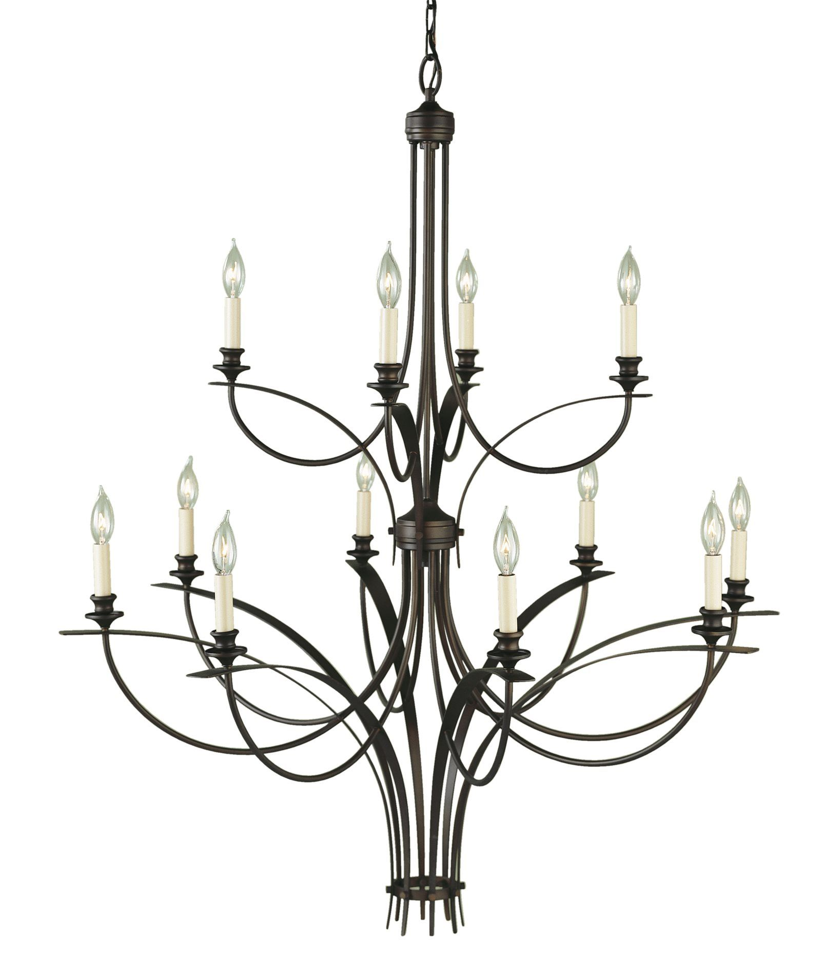 South Shore Decorating: Murray Feiss F1891/8+4ORB Boulevard Transitional Chandelier MRF-F1891-8-4ORB