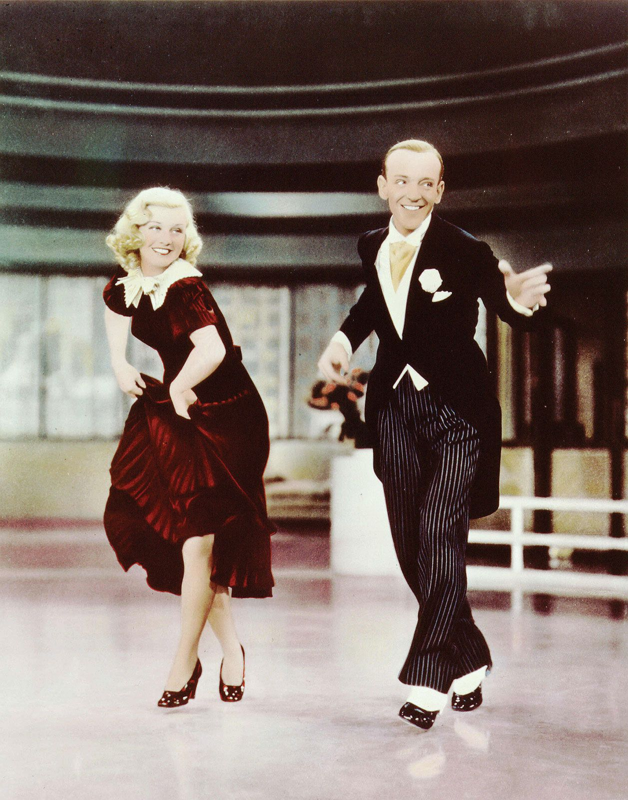 Fred And Ginger In Color Fred Astaire And Ginger Rogers In Swing Time Fred And Ginger Fred Astaire Tap Dance