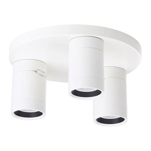 Nymane Lampa Sufitowa 3 Reflektory Bialy Kup Online Lub W Sklepie Ikea Ceiling Spotlights Ceiling Lights Ikea