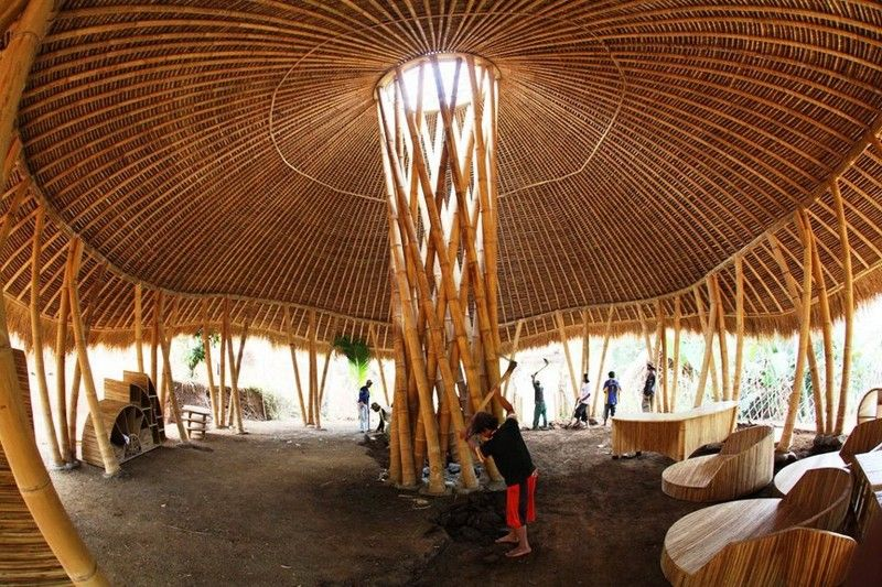 Bamboo Architecture Buildings And Structures here's another example of the extraordinary versatility of bamboo