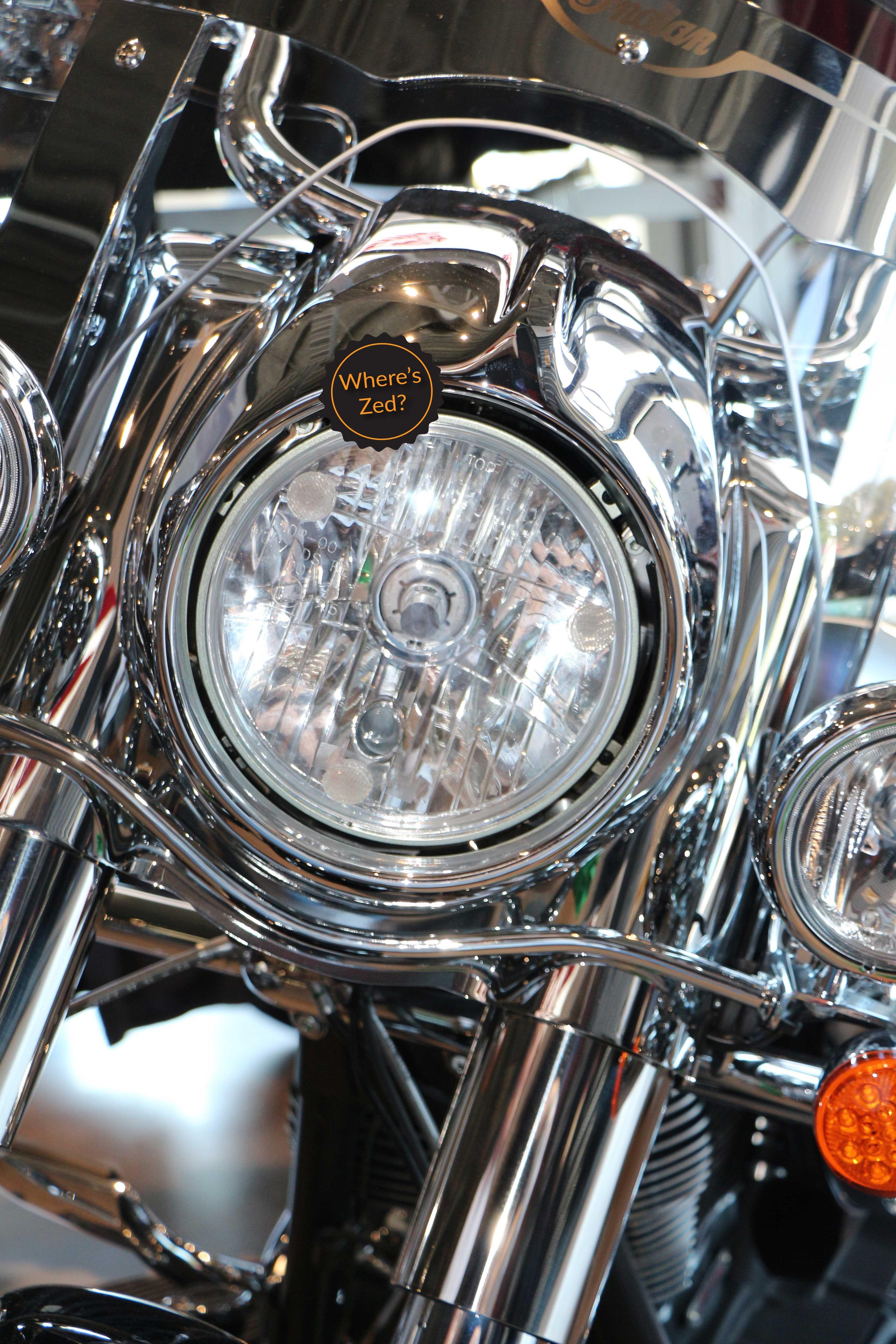 Chieftan Springfield Vintage Motorcycle Headlight Protector