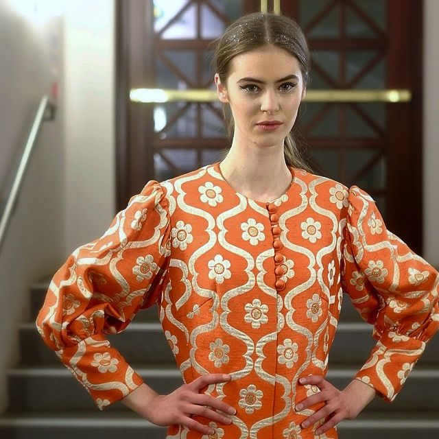 One of the beautiful models who wore one of my outfits which were the closing #vintage outfits to the #usherhall #charityfashionshow which took place last night. #efw #ecfs #samh #ss15 #ootd #orangealert #edfashion #edinphoto #scotfashionblog #scotstreets