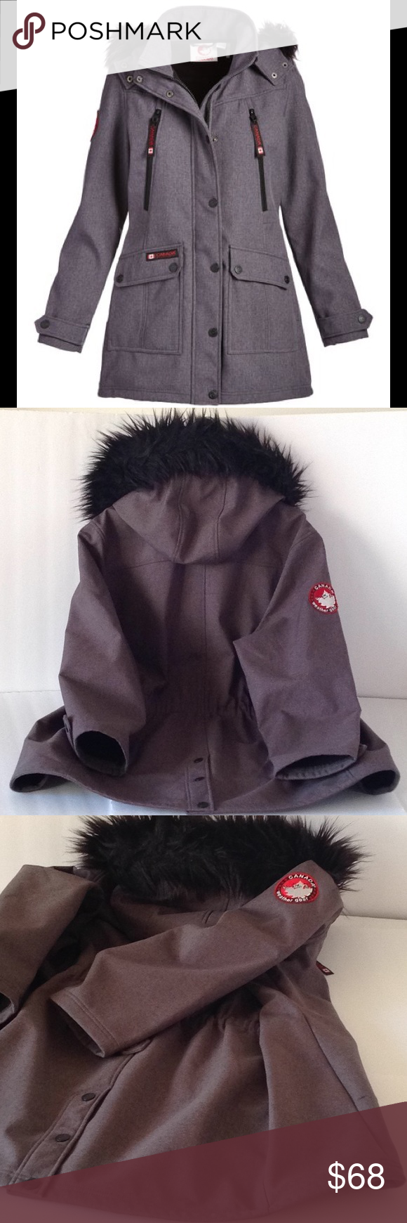 Canada Weather Gear Fur Trim Hooded Jacket Hooded Jacket Fur Trim Jackets [ 1740 x 580 Pixel ]