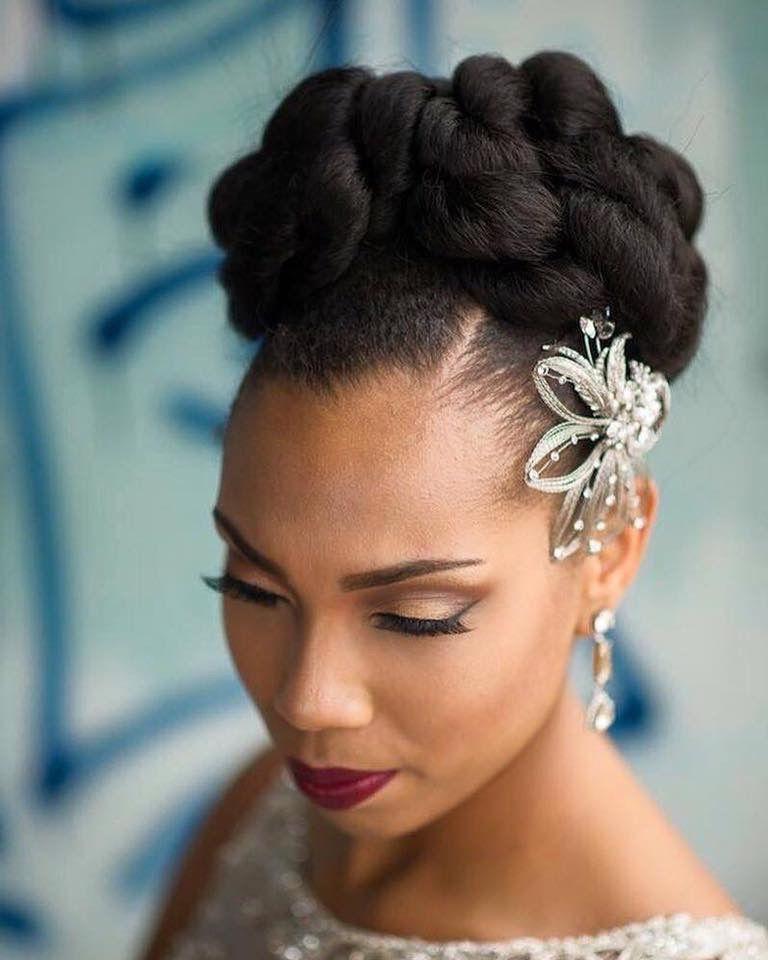 Bride Wedding Hair African American Hair Natural Hair Bride Natural Wedding Hairstyles Natural Hair Wedding