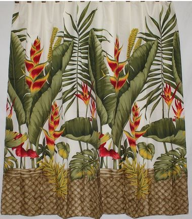 Hawaiian Style Shower Curtain