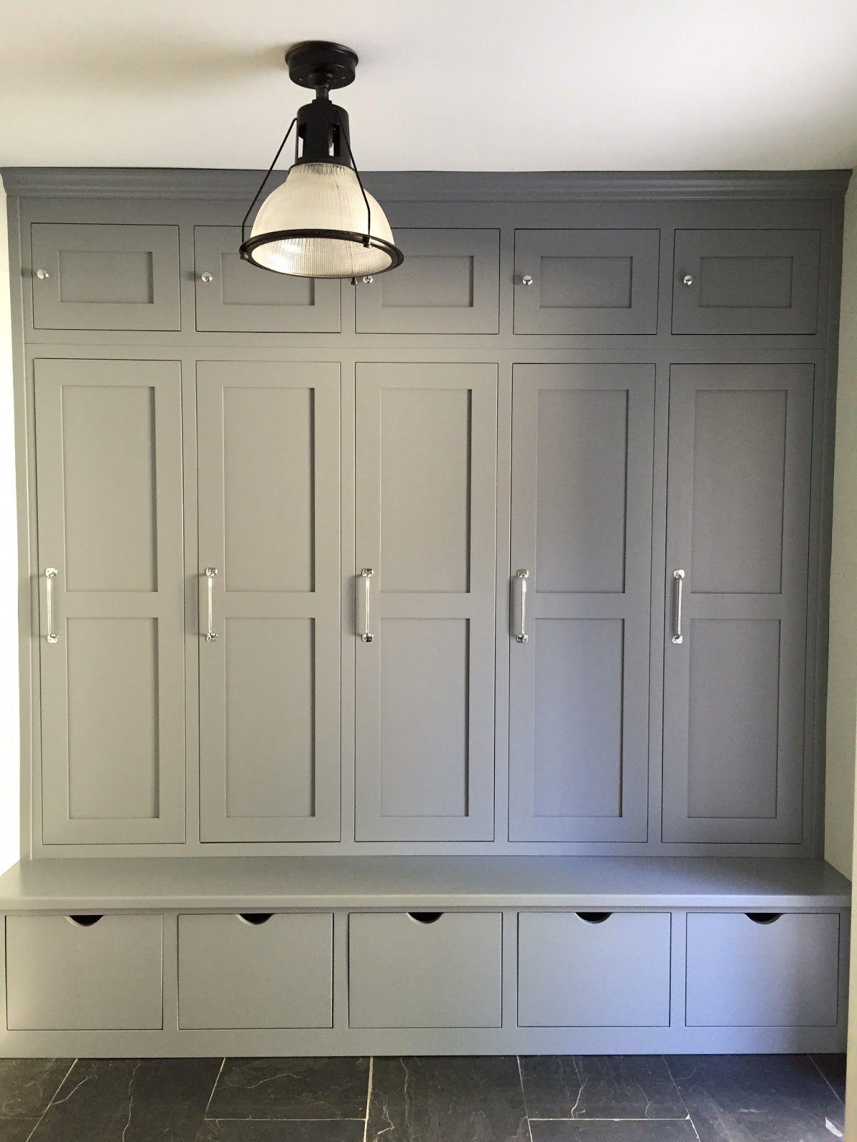 Hallway storage cabinet  Showing off Melinda  Mud rooms Gray and Room