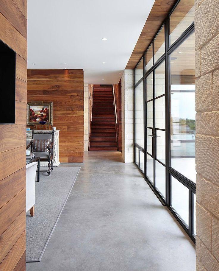 Sol béton quartz lissé ciré Architecture inspiration Pinterest - maison en beton coule