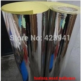 New Home Decor Self Adhesive Pvc Wallpaper Mirror Effect Silver Gold Reflective Paper Clothes Furniture Cabinet W Mirror Paper Mirrored Wallpaper Wall Stickers