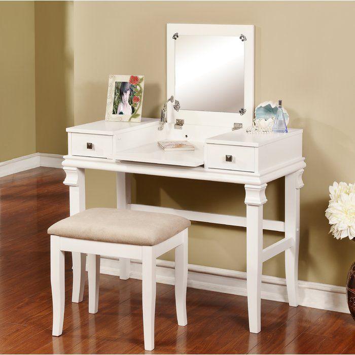 Best Leister Vanity Set With Mirror Bedroom Vanity Set White 400 x 300