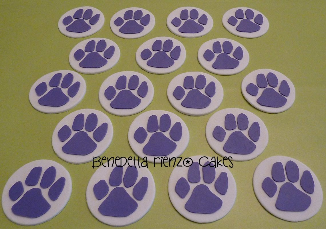 how to make paw print cupcakes