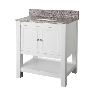 Foremost Gazette 30 In Vanity In White With Granite Vanity Top In Napoli Gawa3022np At The H Granite Vanity Tops Marble Vanity Tops Home Decorators Collection