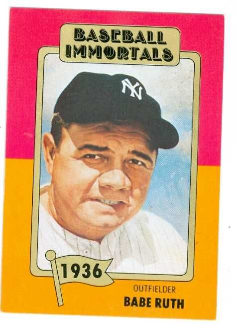 Babe Ruth Baseball Card Babe Ruth Baseball Card 1980
