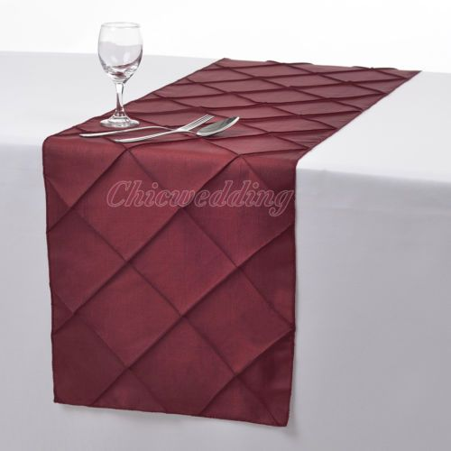 1-5-10-PCS-12-x108-Pintuck-Table-Runner-Cloth-for-Wedding-Party-Decoration-New