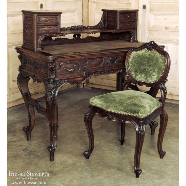 Antique Italian Baroque Walnut Desk Inessa Stewart S Antiques Baroque Furniture Victorian Furniture Ornate Furniture