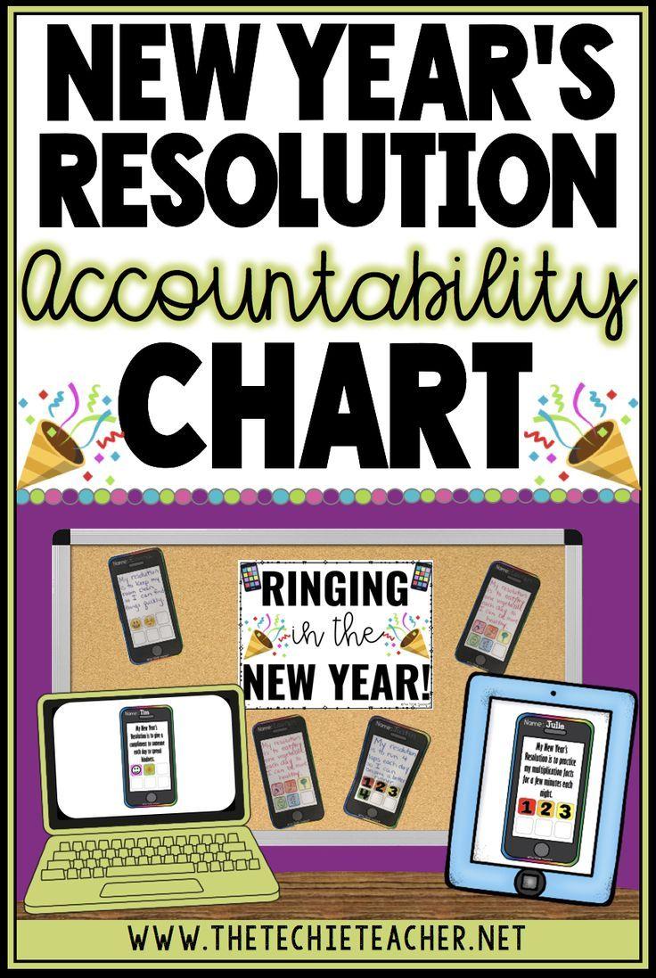 New Year's Resolution Accountability Chart {Digital