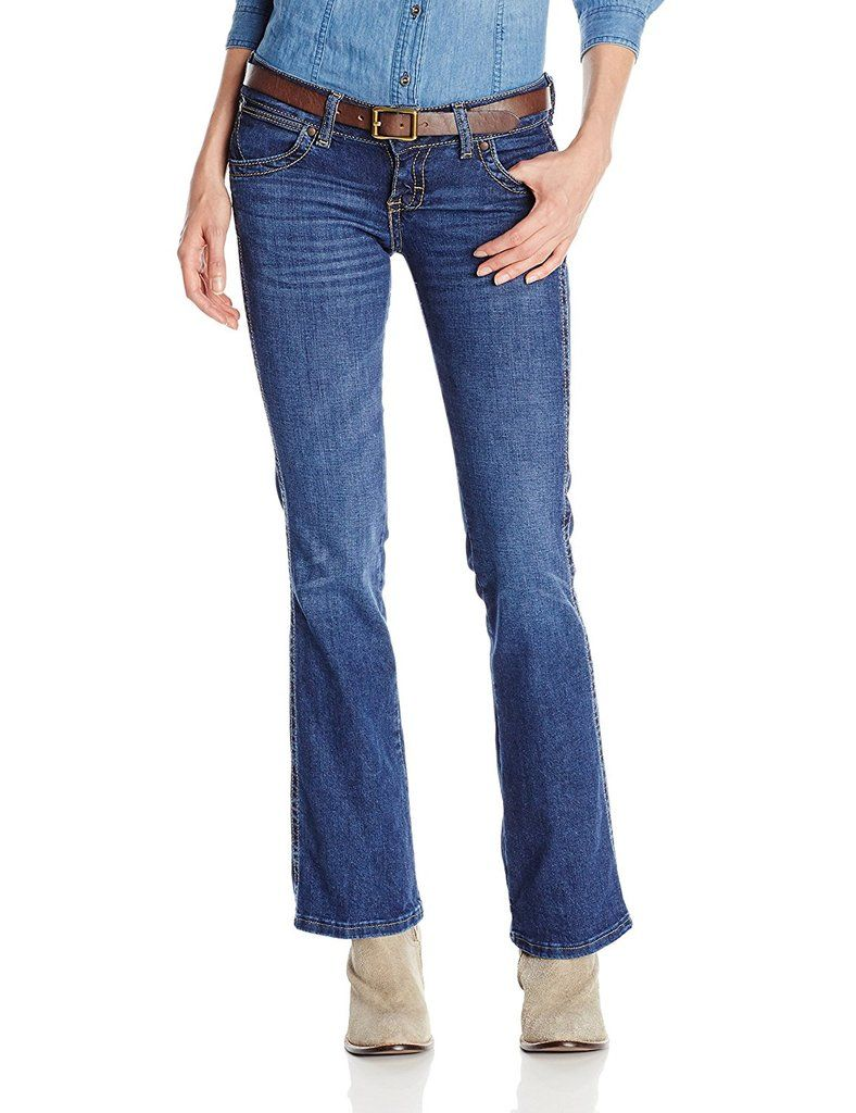 ddef5ab6 Wrangler Women's Sadie Premium Patch Sit Above Hip Jean - 07MWZBD in ...