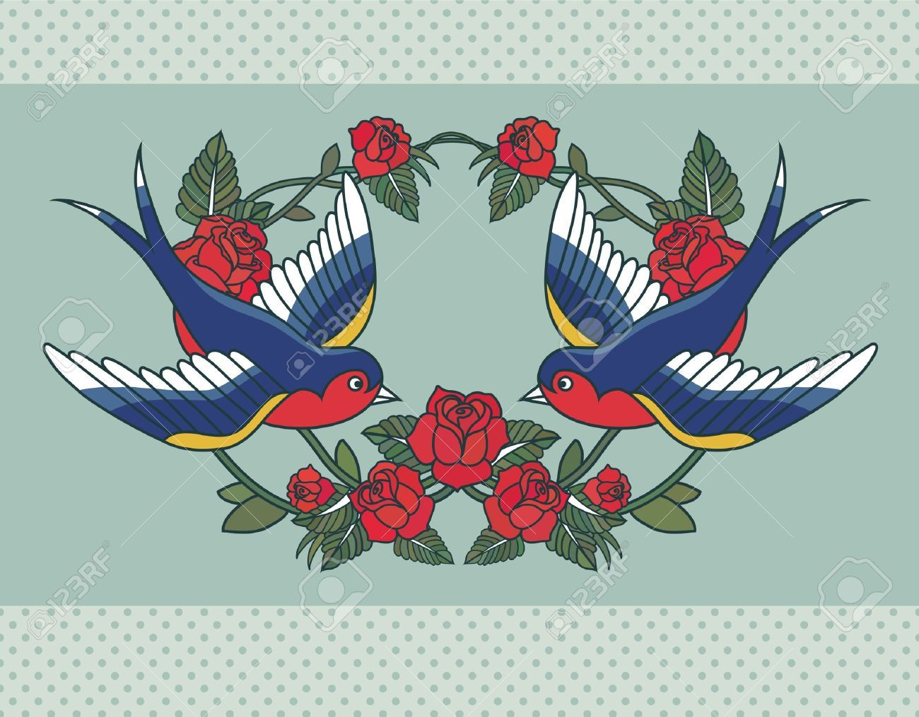Image from http://previews.123rf.com/images/sntpzh/sntpzh1308/sntpzh130800090/21447883-Old-school-frame-with-roses-and-birds-Stock-Vector-tattoo-rose-swallow.jpg.