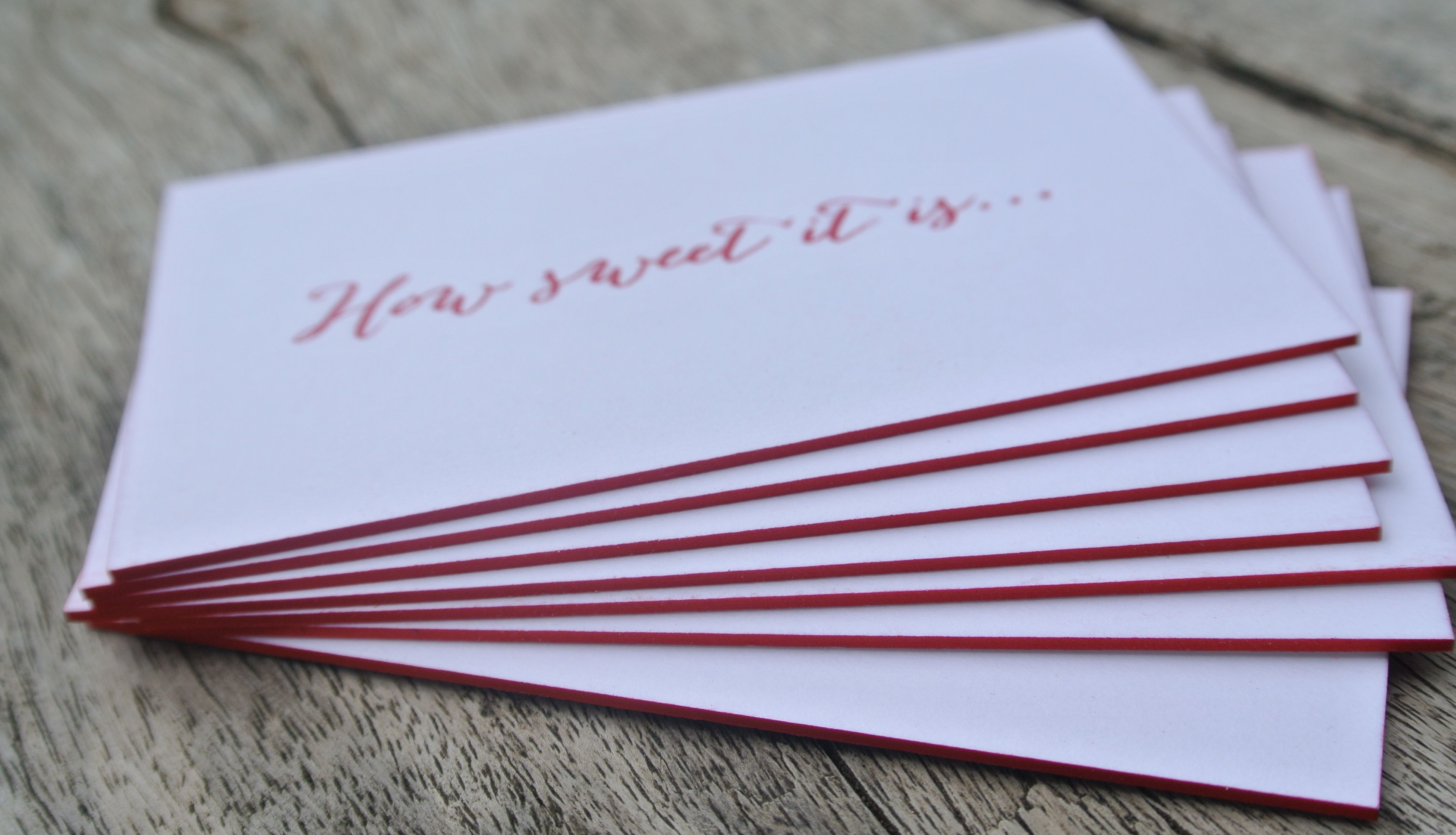 business cards how sweet it is design by clio pollak printed in