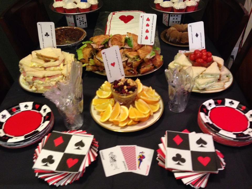 Casino themed party food palace indian gaming casino