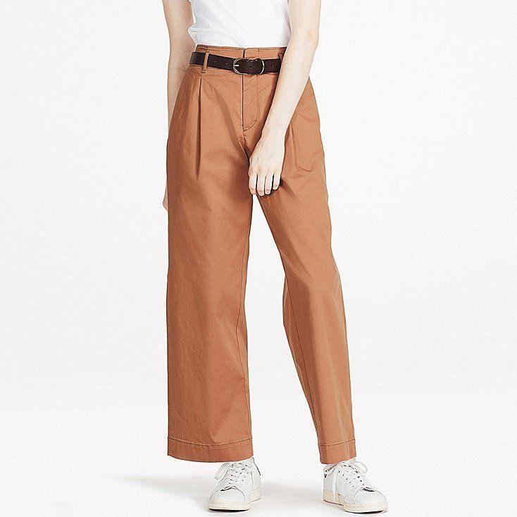 e6c1737c8e WOMEN HIGH-WAIST CHINO WIDE-LEG PANTS, BROWN | wishlist | Jeans fit ...