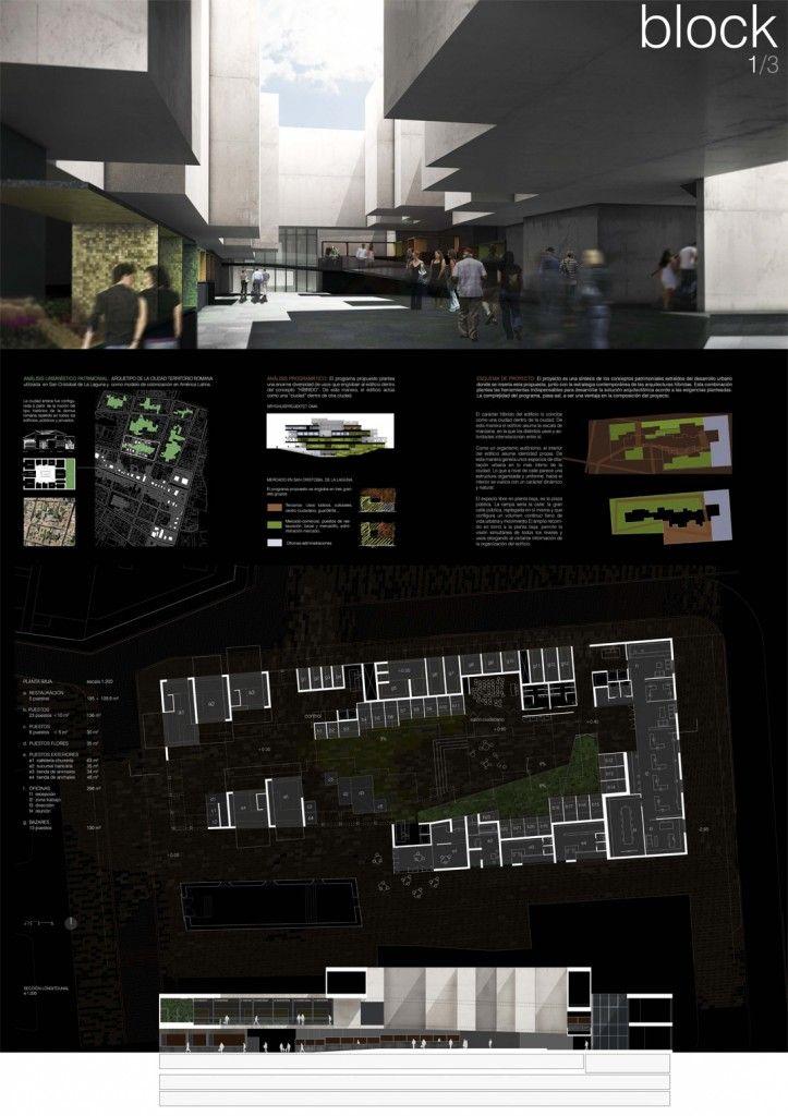 Block cm4 arquitectos propuesta para el concurso mercado - Cm4 arquitectos ...
