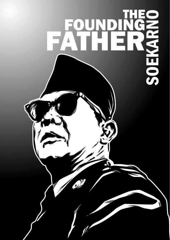 Soekarno The Founding Father By Astayoga Deviantart Com On Deviantart Karikatur Sketsa Dan Sketsa Wajah