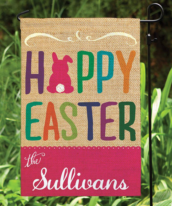 Easter Personalized sign flag #ad #easter #easterdecor #decorationgideas