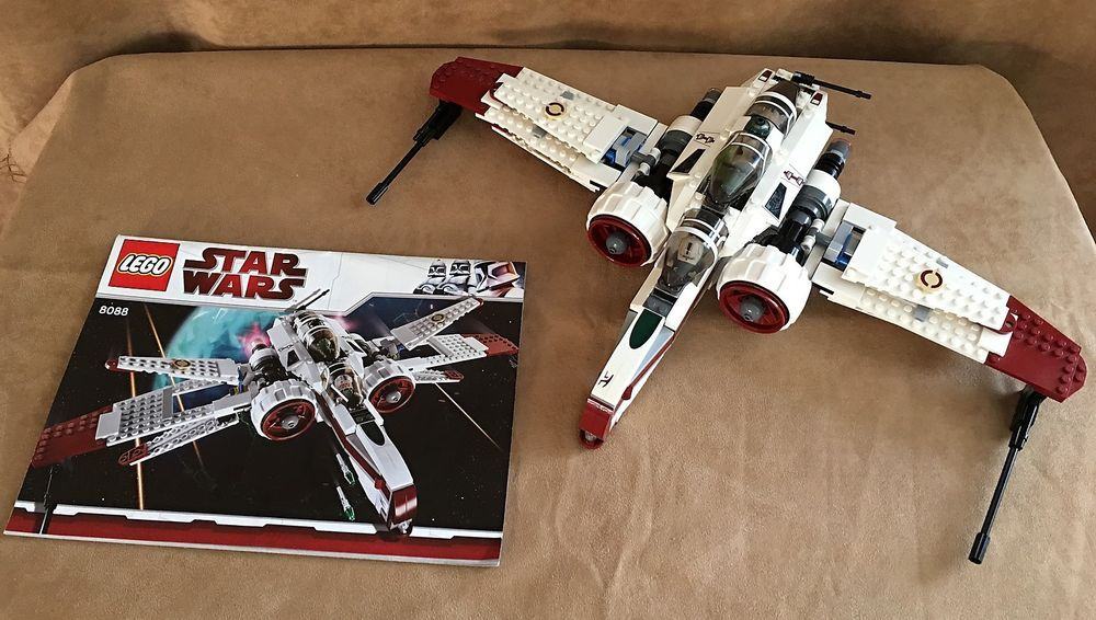 8088 Lego Star Wars Complete Arc 170 Starfighter Instructions Kit