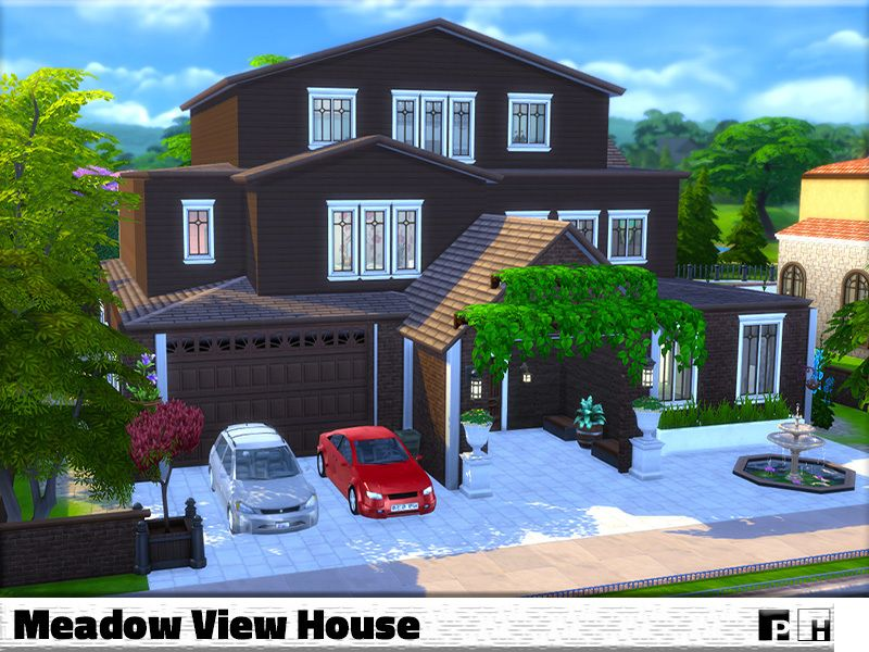 This Very Large Family Home Is Just One Step Away From Being In Your Sim World This House Holds A Converted Garage To Kitch Sims Building The Sims 4 Lots Sims