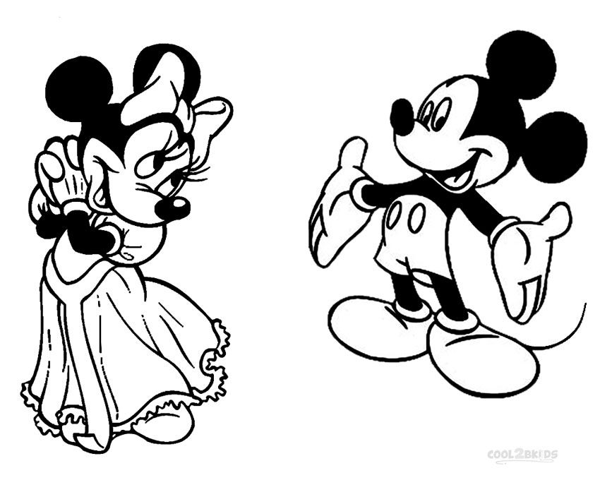 mickey and minnie mouse coloring pagesjpg 850