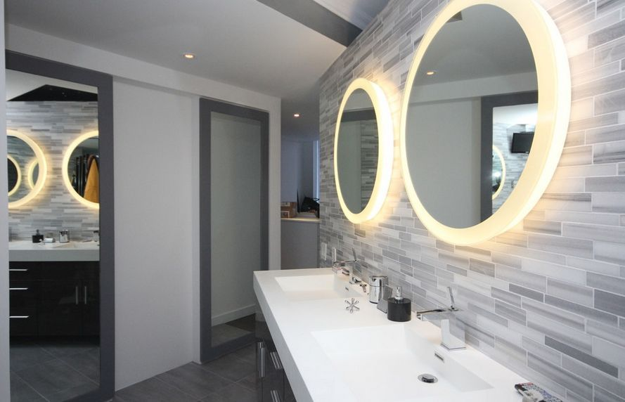 Modern Round Mirror Lights For Bathroom