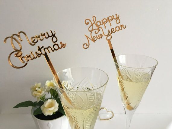 merry christmas swizzle sticks happy new year by franjohnsonhouse