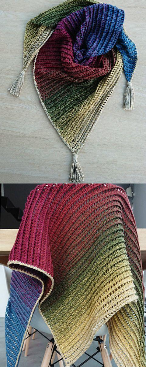 Dragon Belly Shawl Free Crochet Pattern | Häkeln/Stricken ...