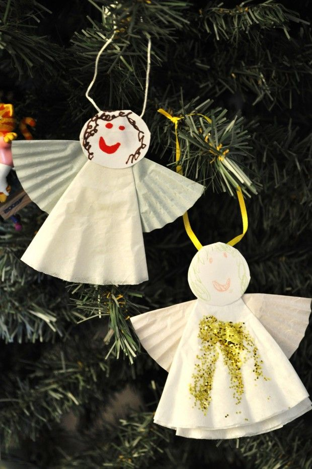 christmas ornaments coffee filters christmas crafts snacks activities for kids