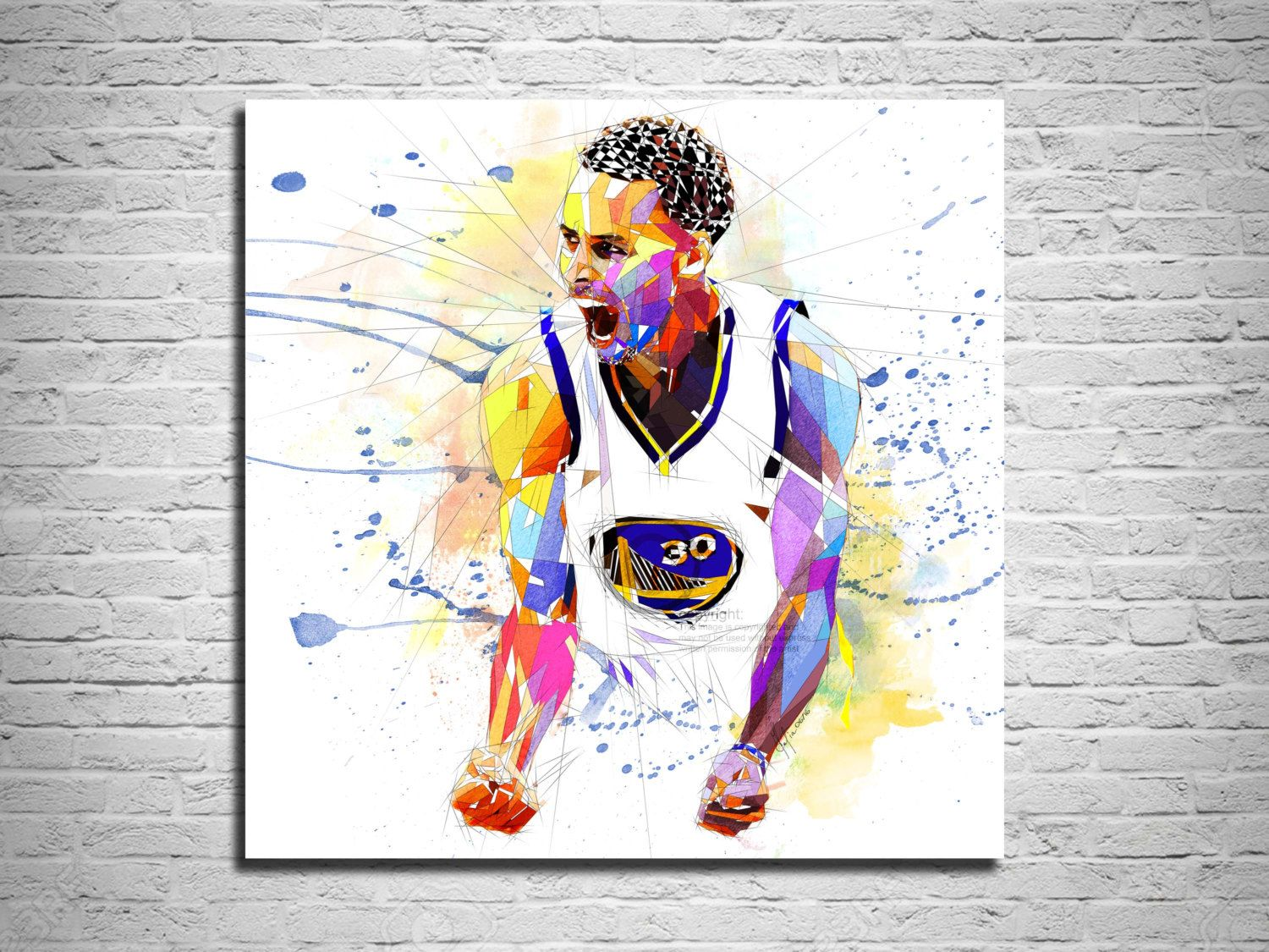 s curry art, canvas print, steph curry poster, stephen curry print