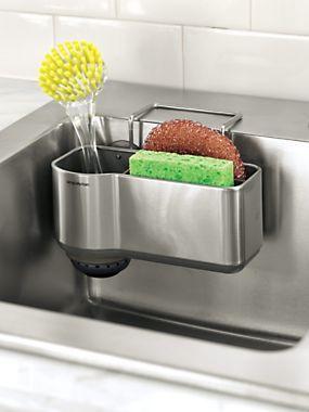 kitchen caddy coffee cart sink sponge brush holder solutions