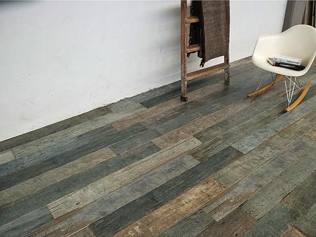 Suelo de plaqueta imitando madera envejecida decoraci n - Plaqueta imitacion madera ...