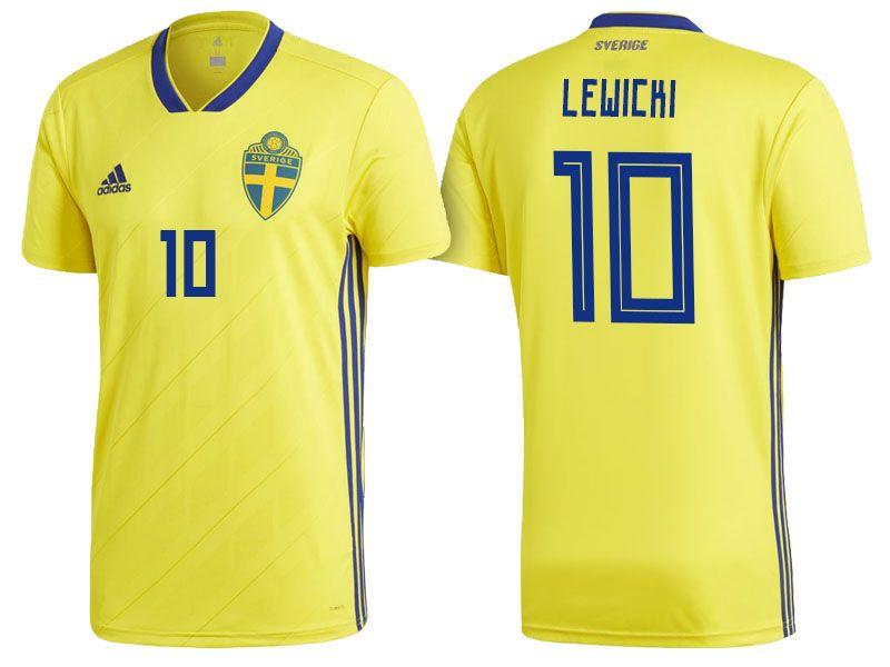 Sweden World Cup Jersey 2018 Oscar Lewicki Shirt World Cup Jerseys Sweden World Cup 2018 Jersey Shirt