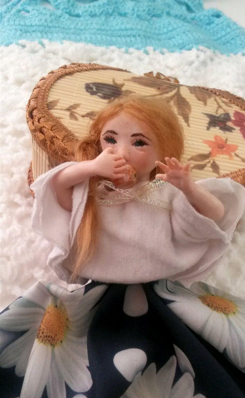 Ooak clay Art doll by Alwaysyoursnursery on Etsy https://www.etsy.com/listing/269304496/ooak-clay-art-doll
