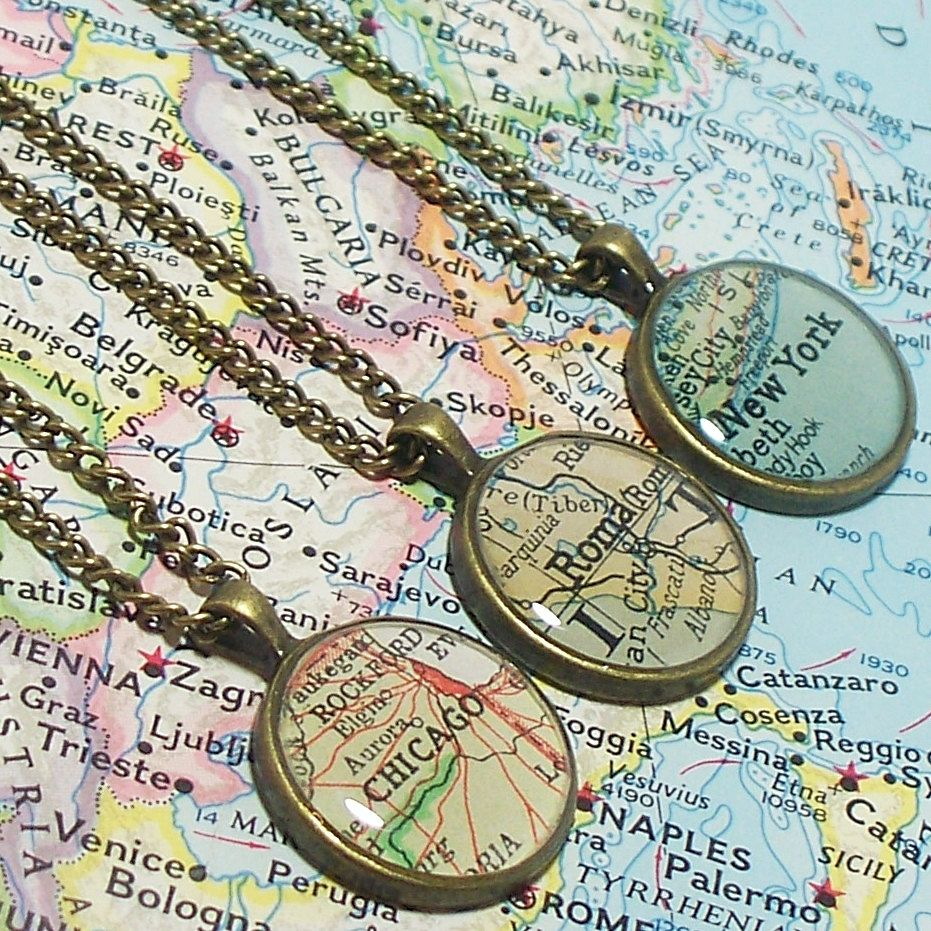 Custom map necklace you select location anywhere in the world custom map necklace you select location anywhere in the world map pendant gumiabroncs Image collections